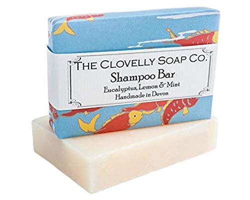 Shampoo Bar mit Eukalyptus Zitrone und Minze 100g pack Im Vereigniten Königreich mit 100% Naturprodukten handgefertigt Sanft und natürlich feuchtigkeitsspendend - Weiße Bio-seife