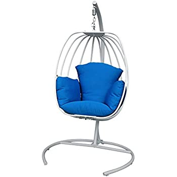 ART TO REAL Egg Shaped Hanging Swing Chair with Cushions ...