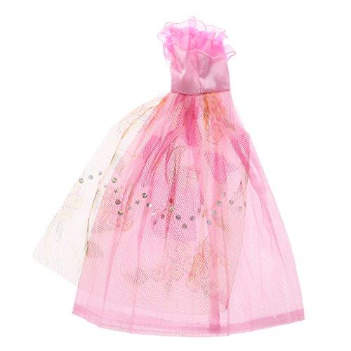 Sharplace Bambole Abbigliamento e Accessori Set 5 Pz Vestito Abito +10 Paia Scarpe per Barbie, Multicolore