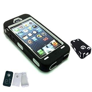 ACENIX® - Hochbelastbare Schutzhülle Für Bauarbeiter Arbeiter Für iPhone 5 & 5G - Stabile Schutzhülle - Kostenlose Displayschutzfolie - Gratis Mini Eingabestift