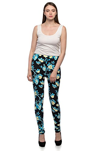 Tara Lifestyle Printed Stretchable Leggings for Womens-Free Size (Waist: 26\