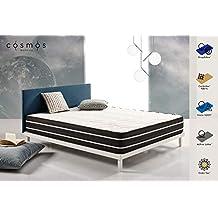 COSMOS - COLCHÓN VISCO ELÁSTICO Activated Carbon 150x190 cm – Tejido CARBOTEX® - VISCO V200