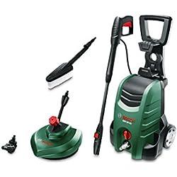 Bosch AQT 37-13+ - Limpiadora de alta presión (Pistola alta presión, lanza, limpiador de terrazas, filtro de agua, cepillo para lavar, boquilla, manguera 6m, cable alimentación de 5m, 1700 vatios)