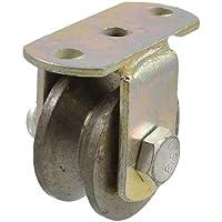 DealMux industrial parafuso fixável V em forma de ferro fundido de rodas 2 Diâmetro