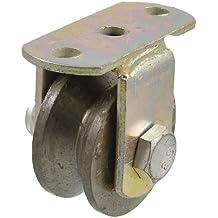 DealMux Industrial Tornillo corregible V moldeada en forma de rueda de hierro 2 Dia