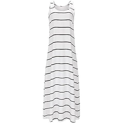 Da Wu Jia Ms. intimo allentato di lusso e un confortevole e informale One-Length Stripe Dress , la figura di colore , L