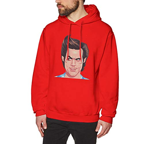 Harrisontdavison Herren Baumwolle Graphic Hoody Wunder-Grafik Ace Ventura Red Langärmliges Sweatshirt L -