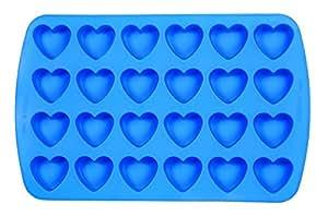 Wilton Brands Moule en silicone Easy-Flex bite-size mold-24cavité Cœur 3,8x Rouleaux, d'autres, multicolore