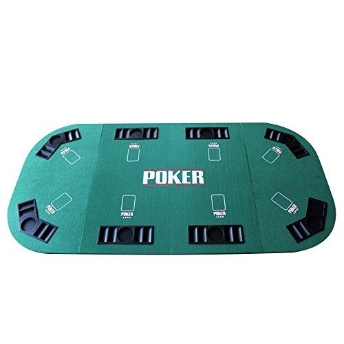 EBS 8 Spieler Pokerauflage Poker Tischauflage Pokertischauflage Pokertisch Casino 180 x 90 cm
