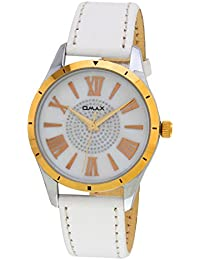 Omax Analog White Dial Watch for Women - LS307