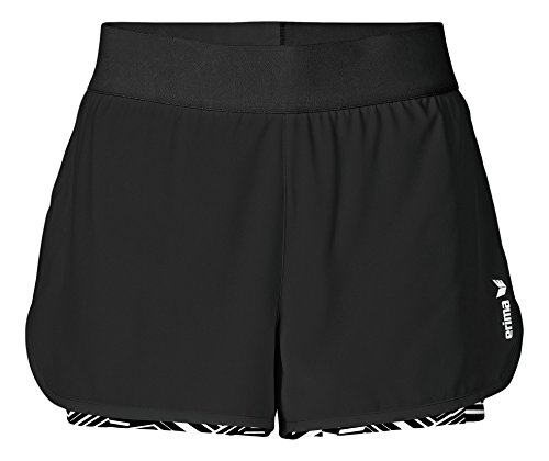 erima Damen Green Concept 2 in 1 Shorts Schwarz