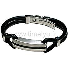 TIMELYO ® Bracelet Fashion en Acier Inoxydable POUR Homme Garcon Femme Fille Bijoux Cadeau