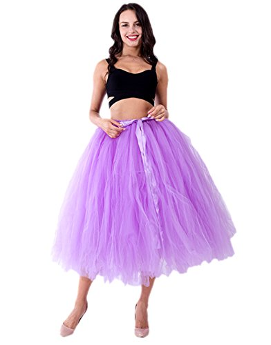 Honeystore Damen's Tüllrock Maxirock Lang Tüll Rock Tutu Hochzeit und Party Prinzessin Ballettrock One Size (Dance 1960's Kostüme)