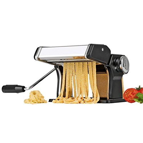 gourmetmaxx 09952 Nudelmaschine Pasta-Profi | Edelstahl | Teigroller | Nudelherstellung | Nudelkurbel