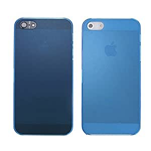 Phoenix 0.5 MM Ultra Thin Transparent Blue Color Back Cover for iphone 5 5s