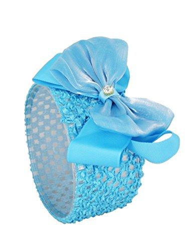 Bandeau enfant pour mariage cérémonie - Bleu turquoise - Taille Unique