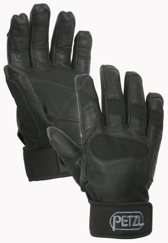 Öse-blk Leder (Petzl Erwachsene Handschuhe Cordex Plus, Schwarz, L, K53 LN)