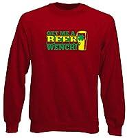 Sweat-shirt col rond imprimé Couleur : rouge. Composition : 80 % coton, 20 % polyester. Lavable en machine à 30 °C. Ne pas sécher au sèche-linge.