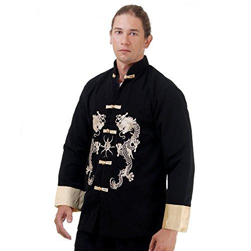 Kung Fu, Tai Chi & Meditations Jacke Baumwolle Größe L Schwarz