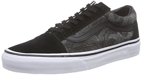 VansOld Skool - Scarpe Sportive Outdoor unisex adulto , Nero (Noir (Chambray Leaves/Black)), 40,5