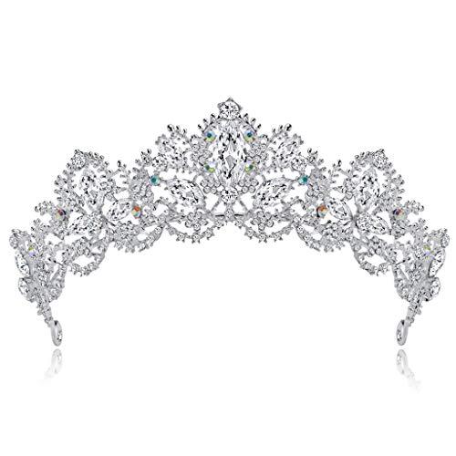 SimpleLife Wedding Tiara, Brautkrone Tiara Strass verziert Braut Tiara Haarspangen Haarband Haarspange Haarspange für Hochzeit, Proms, Pageants, Princess Parties,...