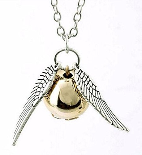 Collar de Harry Potter Colgante Snitch (Schnatz) de plata