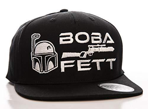 Offizielles Lizenzprodukt Star Wars - Boba Fett Einstellbare Größe Snapback Kappe (Schwarz)