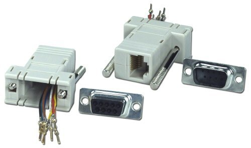 Qvs Cc438 Db9 Male To Rj45 Female Serial & Terminal Modular Adaptor  available at amazon for Rs.2146