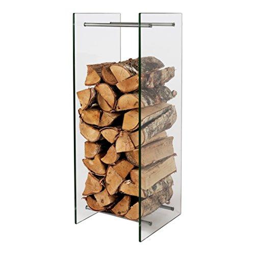 Kaminholzständer Glas 90 x 30 x 33 cm Brennholzständer