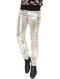 Pantaloni in Pelle Faux da Uomo vestibilità Slim Locomotiva Hip Hop  Elasticità di Grandi Dimensioni Pantaloni 758854c83114