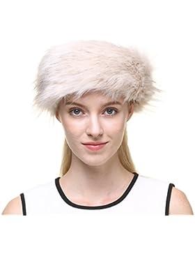 Vogueearth Mujer's Faux Pelaje Invierno EarMás Cálido Earmuff Ski Sombrero Gorra Venda