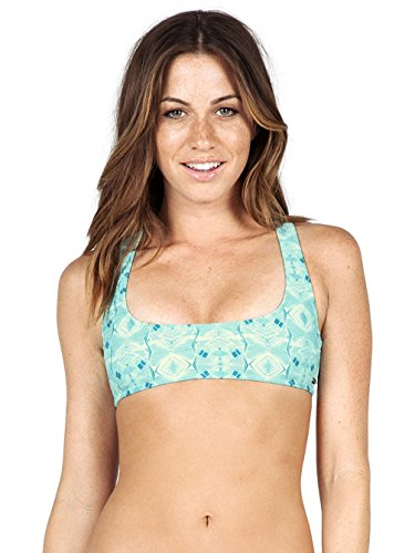 Volcom Damen Bikini Top Day Tripper Crop Bleached Aqua, M