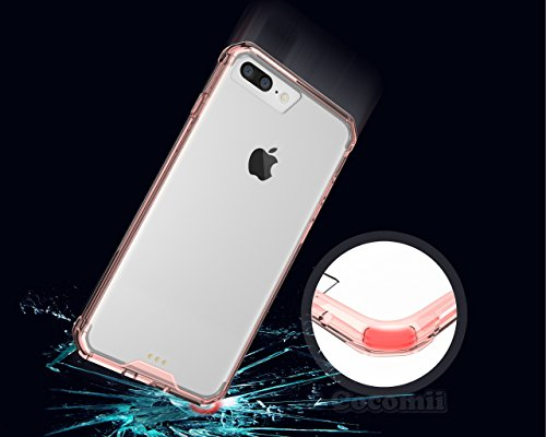 iPhone 8 Plus / 7 Plus Coque, Cocomii Modern Armor NEW [Crystal Clarity] Premium HD Clear Anti-Scratch Shockproof Hard Bumper Shell [Slim Fit] Full Body Ultra Thin Lightweight Transparent Cover Case É Crystal Pink