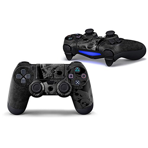 morbuy PS4 Controller Skin Designer Leder Sticker für Sony Playstation 4 PS4 Slim Pro Dualshock Wireless Controller X 1 Totenköpfe