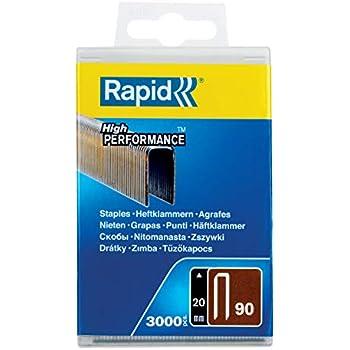 Rapid Agrafes N°90 3000 pièces 5000123 Fil galvanisé... Longueur 20mm