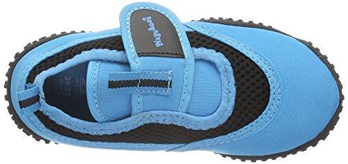 Playshoes - Aquaschuhe, Badeschuhe Neonfarben mit höchstem UV-Schutz nach Standard 801, Scarpe da arrampicata Unisex – Bambini Blu (Blau (blau 7))