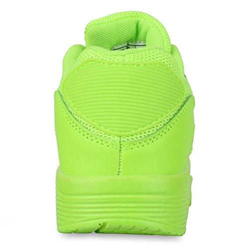 Damen Herren Unisex Sportschuhe Runners Sneakers Laufschuhe Trendfarben Neongrün