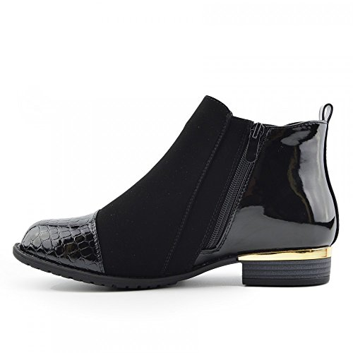 Kick Footwear Chelsea Boots, Stivali donna Black Suede