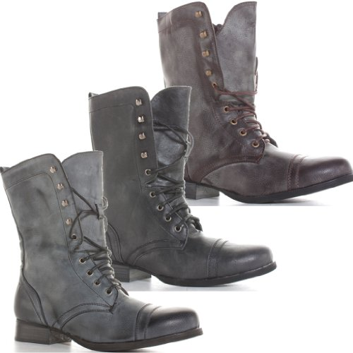 mens-black-brown-army-combat-lace-up-miltary-style-ankle-boots-size-7-8-9-10-11-16