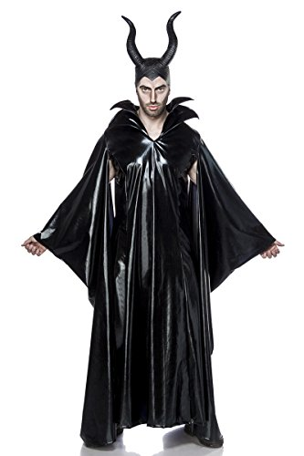 2 teiliges Maleficent Lord Kostüm mit Maske Herrenkostüm Herren Malefiz Märchen Fee Böse Karneval Fasching Set Komplettset Wetlook (Winter Märchen Kostüm)