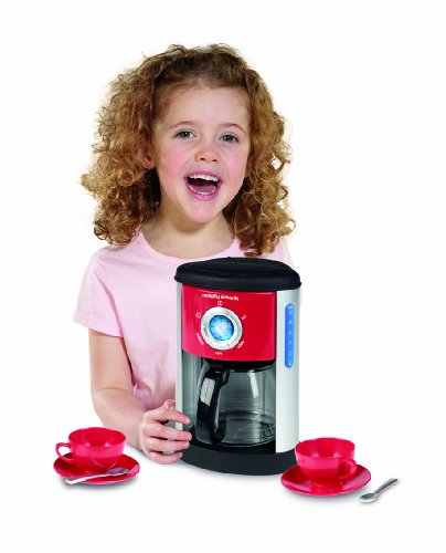 Casdon Morphy Richards Coffee Maker and Cups-red