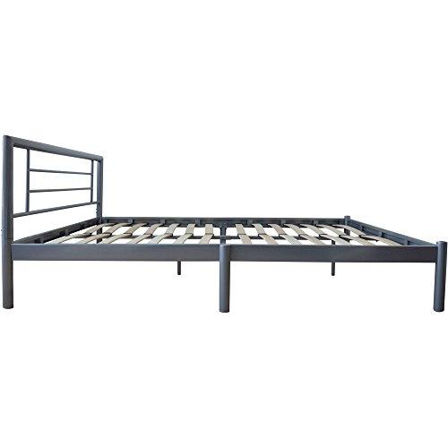 Harbour Housewares King Metal Bed Frame In Silver