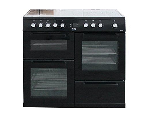 Beko KDVC100K 100cm Electric Range Cooker With 5 Zone Ceramic Hob - Black