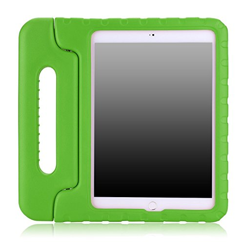 Preisvergleich Produktbild Kinder Hülle für iPad Pro 9.7, CAM-ULATA EVA Stoßfest Leichtgewicht Kinderfreundlich Griff Schutzhülle Standhülle Für iPad Pro 9,7 Zoll 2016 Tablette, Grün