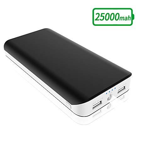 FKANT Powerbank 25000mAh Externer Akku, hohe Kapazität kompakt Power Bank mit 2 USB Ports 4 LED Power Indikator Ladegerät Handy Akkupack für Samsung Galaxy Huawei Tablet Kameras PSP