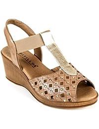 Para Marrón Zapatos esPitillos Mujer Amazon kOZiTwPluX