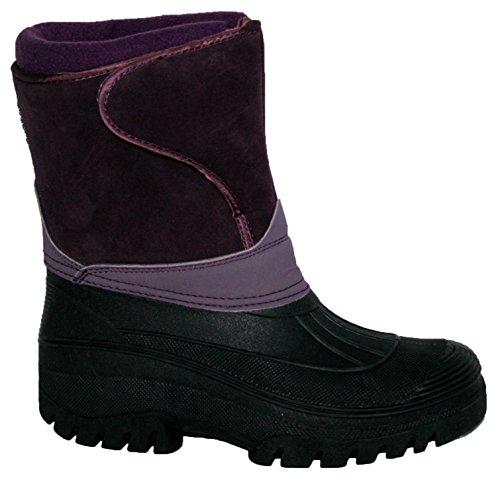 Groundwork, Damen Stiefel & Stiefeletten Violett Violettes Wildleder 39 EU