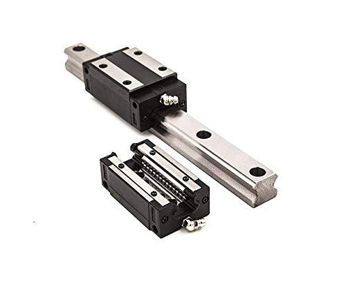 TEN-HIGH CNC Teile HSR20 2100mm Linear Führungsschiene mit 2x HSR20CR quadratischem Gleitstück, MEHRWEG