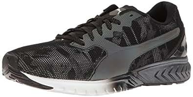 PUMA Women's Ignite Dual SWAN WN's Cross-Trainer Shoe, Black White, 12 M US