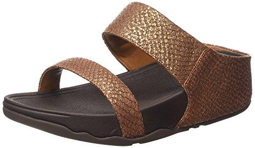 FitFlop trade; Womens Lulu™ Snake Slide Copper Size 11
